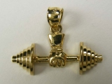 Professional - Jewelry Stores - Overhead Weight Lifting Barbells Charm