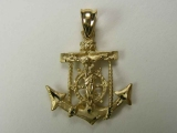 Marine Charms - Jewelry Stores - Crucifix Anchor Charm