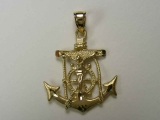 - Jewelry Stores - Crucifix Anchor Charm