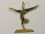 Animal Charms - Jewelry Stores - Gymnastic Girl on Pommel Horse Charm