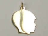 Engravable Charms - Jewelry Stores - Large Engravable Boy Face Charm