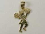 Gold But Gold - Jewelry Stores - Cheer Leader in Action Charm