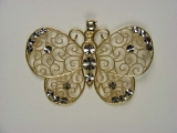 Bird Charms - Jewelry Stores - Designers Look Two Tone Butterfly Charm