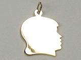 Engravable Charms - Jewelry Stores - Large Engravable Girl Face Charm