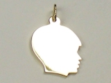 Engravable Charms - Jewelry Stores - Small Engravable Boy Face Charm