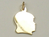Engravable Charms - Jewelry Stores - Small Engravable Girl Face Charm