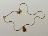 Anklets - Jewelry Stores - Snake Chain Anklet with Lady Bug