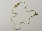 Anklets - Jewelry Stores - Snake Chain Heart Anklet