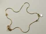 Anklets - Jewelry Stores - Box Chain with Star Anklet