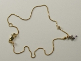 Anklets - Jewelry Stores - Box Chain with Dolphin Anklet