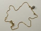 Anklets - Jewelry Stores - Box Chain with Heart Anklet