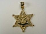 Badges and Logos - Jewelry Stores - Sheriff Star Charm
