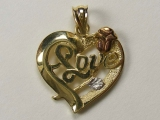 Heart Charms - Jewelry Stores - Tri Color Love Rose Heart Charm