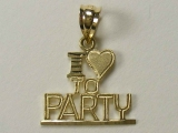 Talking Charms - Jewelry Stores - I Love to Party Charm