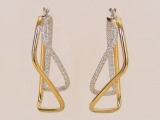 Yellow Gold Earrings - Jewelry Stores - Earrings, 40 mm x 20 mm