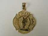 Gold But Gold - Jewelry Stores - Fire Fighters Badge Charm