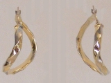 Yellow Gold Earrings - Jewelry Stores - Earrings, 32 mm x 28 mm