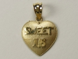 Heart Charms - Jewelry Stores - Sweet 16 Heart Charm