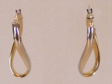 Yellow Gold Earrings - Jewelry Stores - Earrings, 31 mm x 15 mm