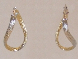 Yellow Gold Earrings - Jewelry Stores - Earrings, 28 mm x 19 mm