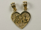 Miscellaneous Charms - Jewelry Stores - Split-Able into 2 Charms Best Friends Charm