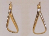 Yellow Gold Earrings - Jewelry Stores - Earrings, 38 mm x 21 mm