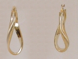 Yellow Gold Earrings - Jewelry Stores - Earrings, 33 mm x 15 mm