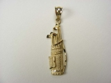 Gold But Gold - Jewelry Stores - Golf Clubs in Bag Charm