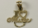 Gold But Gold - Jewelry Stores - I Love Music Charm