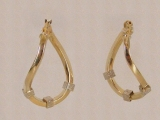 Yellow Gold Earrings - Jewelry Stores - Earrings, 28 mm x 20 mm
