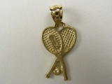 Gold But Gold - Jewelry Stores - Tennis Rackets Charm