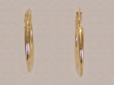 Yellow Gold Earrings - Jewelry Stores - Earrings, 33 mm x 22 mm