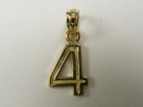 Miscellaneous Charms - Jewelry Stores - Number 4 Charm