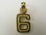 Miscellaneous Charms - Jewelry Stores - Number 6 Charm