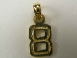 Miscellaneous Charms - Jewelry Stores - Number 8 Charm