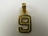 Miscellaneous Charms - Jewelry Stores - Number 9 Charm