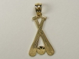 Gold But Gold - Jewelry Stores - Base Ball/ Bats Charm