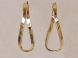 Yellow Gold Earrings - Jewelry Stores - Earrings, 36 mm x 17 mm