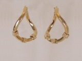 Yellow Gold Earrings - Jewelry Stores - Earrings, 25 mm x 24 mm