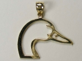 Bird Charms - Jewelry Stores - Duck Head Charm