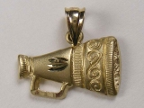 Gold But Gold - Jewelry Stores - Cheering Horn/ Bugle Charm