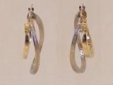 White Gold Earrings - Jewelry Stores - Earrings, 25 mm x 23 mm