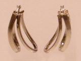 White Gold Earrings - Jewelry Stores - Earrings, 27 mm x 13 mm