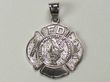 Badges and Logos - Jewelry Stores - FD Fire Department Charm