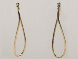 Yellow Gold Earrings - Jewelry Stores - Earrings, 50 mm x 12 mm