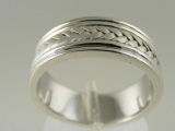 Bands and Rings - Jewelry Stores - Close Weaving Style Wedding Band 7 mm