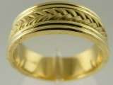 Bands and Rings - Jewelry Stores - Middle Bar Weaving, Wedding Band 7mm (14k)