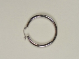 White Gold Hoops - Jewelry Stores - Hoops 33 mm