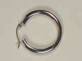 White Gold Hoops - Jewelry Stores - Hoops 25 mm