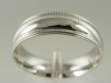 Bands and Rings - Jewelry Stores - Milgrain Edged, Wedding Band 6 mm